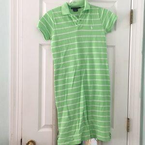Green/white striped Ralph Lauren summer dress